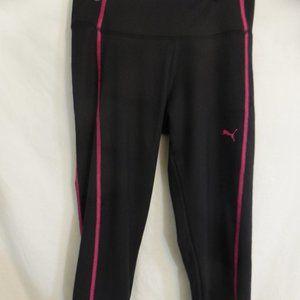 PUMA, medium, black / purple exercise, yoga pants